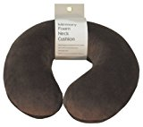 Aidapt Brown Super Soft Velour Luxury Firm Memory Foam Neck Support Cushion (Travelling,TV,Reading)