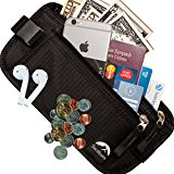 Money Belt RFID Blocking - 2 Year Warranty - Quality Components - Keeps Cash, Documents & ID Safe for Peace of Mind when Travelling