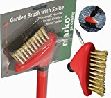 Telescopic Handle Patio Weed Brush 2In1 Scraper Garden Block Paving Wire Cleaner