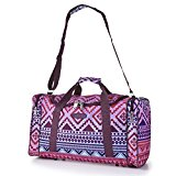 5 Cities® World's lightest (only 0.5kg!) Cabin Size holdall -fits Ryan Air/Easy Jet 55 x 40 x x 20 -flight bag. Actual dimension 54x30x20, Massive 32l Capacity (Aztec Multicolour)