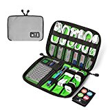 BAGSMART Design Slim Travel Cable Organizer Bags Electronic Accessories Case Handy USB Drive Shuttle Grey