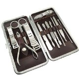 KingOfHearts - 12-Pieces Nail care Personal Manicure & Pedicure Set, Travel & Grooming Kit Tools