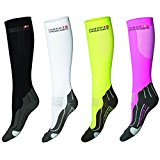 DANISH ENDURANCE Compression Socks // (Black/Grey, EU 39-42 // UK 7-9)
