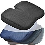 Medipaq® Freedom Wedge Cushion - Great for Coccyx Relief, Lumbar Support, Back Pain in the Car or at Home (Jet Black 3-D Mesh)