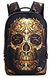 YAAGLE Skull 22L Personality Creative Printing Backpack for Youth Teenager Student