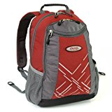 Jeep Laptop Backpack - 10 Years Warranty! (Red/Grey 26L)