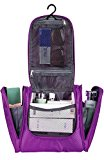 Bago Travel Toiletry Bags for man woman & kids - 100% SATISFACTION GUARANTEED. Hanging Toiletries Bag or for Home. Multi Pockets & High Quality Zippers. Perfect for Cosmetics Shaving & Personal Care (Purple)