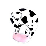 Animal Skid Resistance Memory Foam Comfortable Wrist Rest Support Mouse Pad Cow