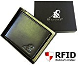 Mt. Everest RFID Blocking Trifold Bifold Mens Leather Wallet, 18 Pocket Extra Capacity, High Quality Build, Gift Box for Men, College Gifts