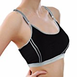 OverDose Women's Breathable Adjustable Strp Fitness Stretch Tank Top Yoga Sports Bra
