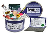 Good Luck Survival Kit In A Can. Humorous Novelty Fun Gift - Present & Card All In One. New Job, Leaving, Emigrating, Moving Away etc. Customise Your Can Colour. (Purple/Lilac)