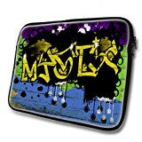 Graffiti 10020, Waterproof Soft Neoprene Laptop Bag Zipped Pouch Case Cover Computer Sleeve with Colourful Design for 14