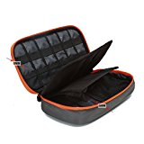 BAGSMART Travel Electronic Accessories Thicken Cable Organizer Bag Portable Case - 4 Layer Grey