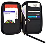 Travel Wallet & Passport Holder by Roomi, an All in One Travel Passport Wallet for safe & convenient Travelling (Black)