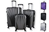 Rocklands Lightweight 4 Wheel ABS Hard Shell Luggage Set Suitcase Cabin Travel Bag (20