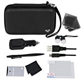 ButterFox Deluxe 12-in-1 Accessory Travel Pack / Case For New Nintendo 3DS XL Console: Black (New Nintendo 3DS XL - 2015 / 3DS XL)