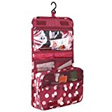 HiDay Hanging Toiletry Organizer Travel Cosmetic Bag with Versatile design