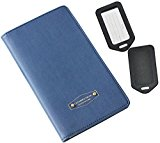 RFID Blocking Passport Case Blue Multi-function Organizer by One Planet, Credit & Debit Card Cover For Secure Travel, No Skimming Compact Wallet, With Bonus 2 Luggage Tags, Buy Now!