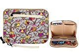 Universal Electronics Accessories Travel Organizer - Katia iPad Mini Case iPhone 6s Pouch - Portable Travel Kit Organizer - Cable Organizer Bag - Makeup Organizer - Owl ISP