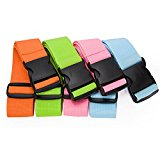 CSTOM Luggage Strap Suitcase Belt Travel Accessories, 4-Pack, 4-Color