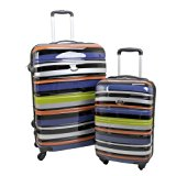Swiss Case 4 Wheel Hard 2Pc Suitcase Set