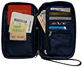 Travel Wallet & Passport Holder by Roomi, an All in One Travel Passport Wallet for safe & convenient Travelling (Navy Blue)