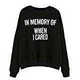OverDose Women Memory Print Long Sleeve Sweatshirt Pullovers
