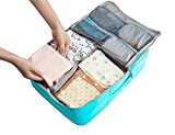 BAGSMART Kids' Suitcase Baby Travel Changing Handbags Clothes Nappy Organizer Toddler Luggage Packing Bag Blue