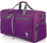 Bago Duffle Bag For Travel Luggage Gym Sport Camping - Lightweight Foldable Into Itself Duffel (Large 27'', Purple)