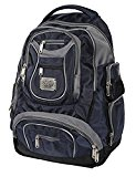 ORIGNAL JEEP LAPTOP TRAVEL CABIN APPROVED HAND LUGGAGE COLLEGE SCHOOL HIKING BACKPACK (Black/Grey/Navy)