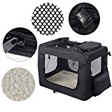 MC Star Portable Foldable Dog Cat Carrier Pet Travel Carry Bag Tote Case,Large, 70 X 52 X 52cm, Black
