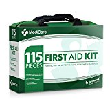 MediCare Deluxe First Aid Kit (115 Items) The Most Essential First Aid Supplies for Home, Travel, Camping, Office and The Workplace