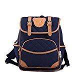 Deer Mum Children's Backpack Lovely Bear Logo Schoolbag Toddler Kid Daypack(blue)