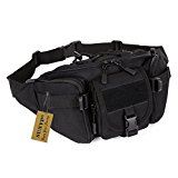SUNVP Tactical Waist Pack Waterproof Large Military Fanny Pack Bag Hip Belt Pouch Bumbag for Outdoors Camping Trekking Hiking Black