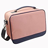 Photo Priter Storage - Lalonovo Comprehensive Waterproof Carrying Travel Case with Strap for Canon Selphy CP1200/ CP910/ CP900/ CP810/ CP800 Portable Photo Printers (Pink)