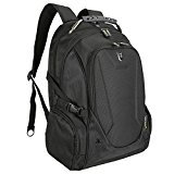 Evecase 15 - 15.6 Inch Premium Laptop Backpack with Check-Fast Airport Security Friendly Sleeve for Acer ASUS Dell Lenovo HP IBM Sony Samsung Toshiba 15.6 Inch Laptop, Tablet and Computer - Black