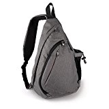 OutdoorMaster Sling Bag - Small Crossbody Street/Travel Backpack for Men & Women (Gray)